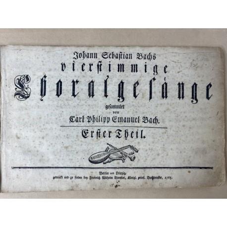Johann Sebastian Bachs vierstimmige Choralgesänge - Erstdruck