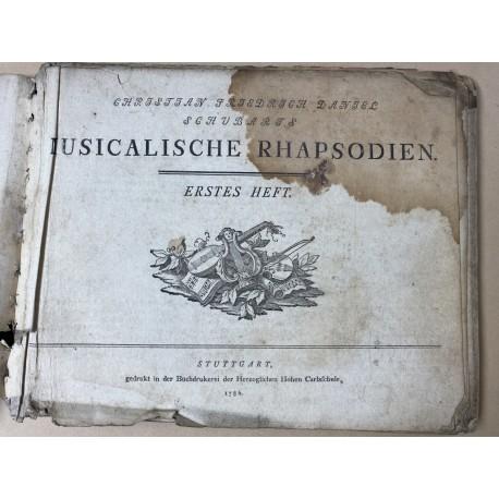 Wertvoller Liederband von Christian Friedrich Daniel Schubart