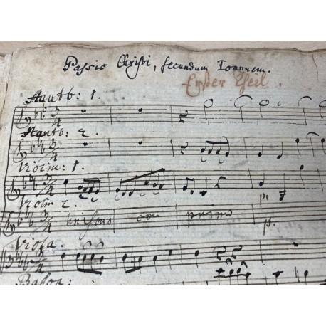 Johannes-Passion in der Einrichtung von J.F. Doles - Musikhandschrift