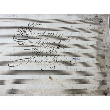 Musikhandschrift aus der Bachzeit