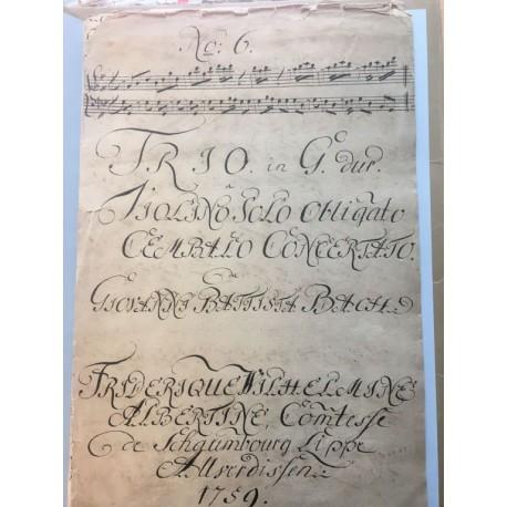 J. S. Bach: Trio G-Dur a Violino Solo obligato