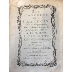 J. Ch. Bach: Six Concertos pour le clavecin